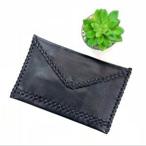 NWOT Laggo Leather Envelope Clutch